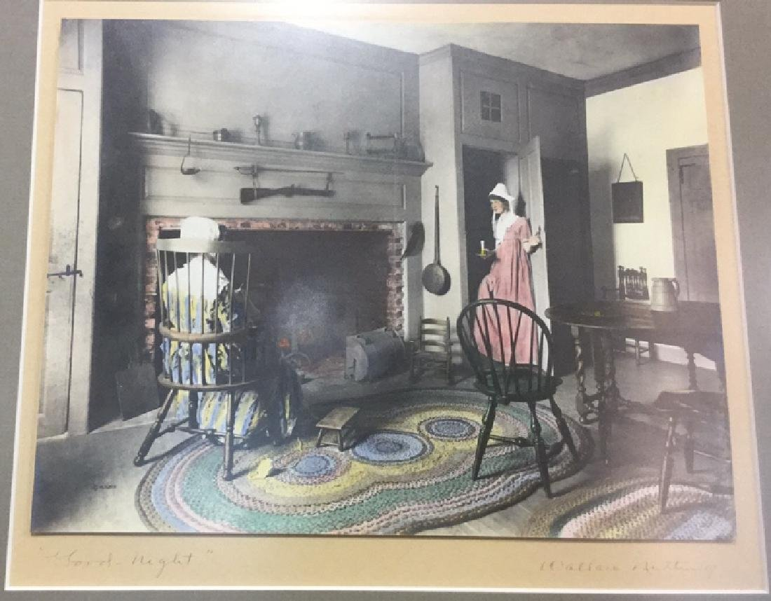 Pair Of Wallace Nutting Hand Colored Prints - 2