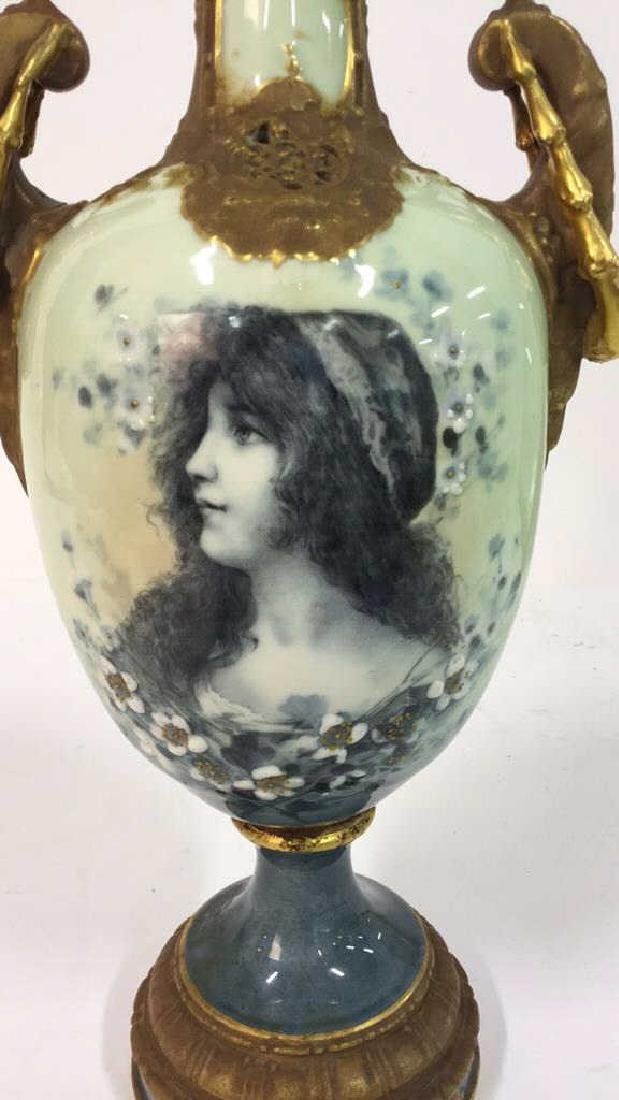 Antique German Signed Porcelain Urn Vase