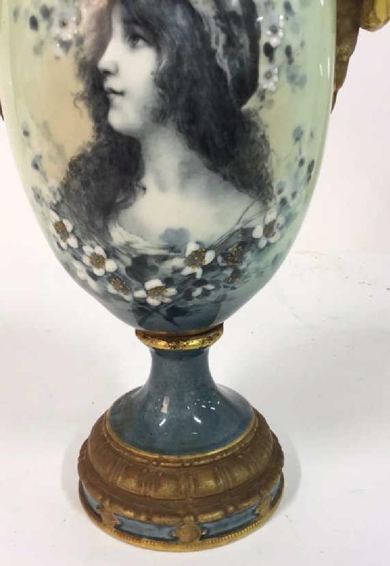 Antique German Signed Porcelain Urn Vase - 3