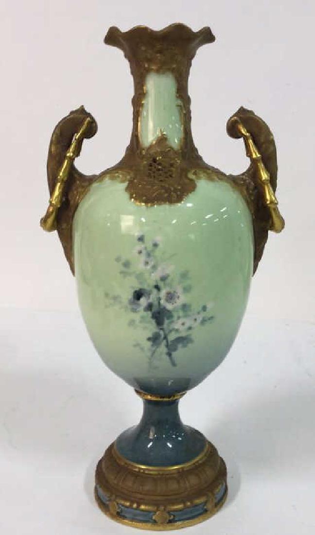 Antique German Signed Porcelain Urn Vase - 6