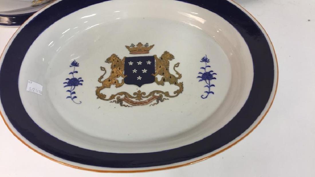 3 Pcs Lidded Tureen w Underplate Ceramic - 4