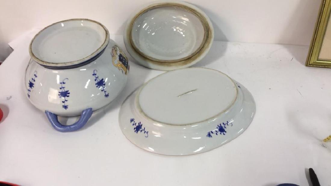 3 Pcs Lidded Tureen w Underplate Ceramic - 8