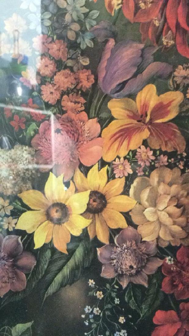 Framed & Matted Floral Print Artwork - 5