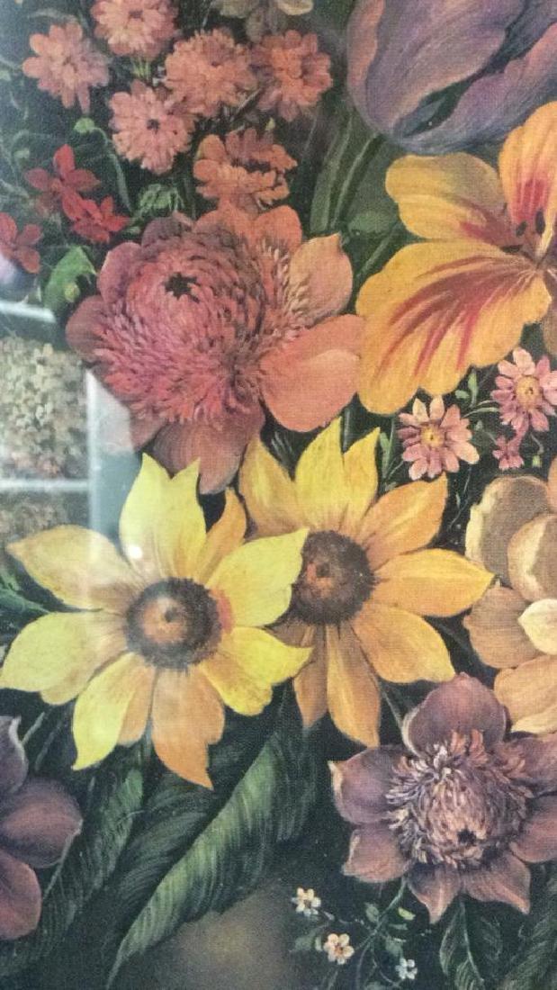 Framed & Matted Floral Print Artwork - 6