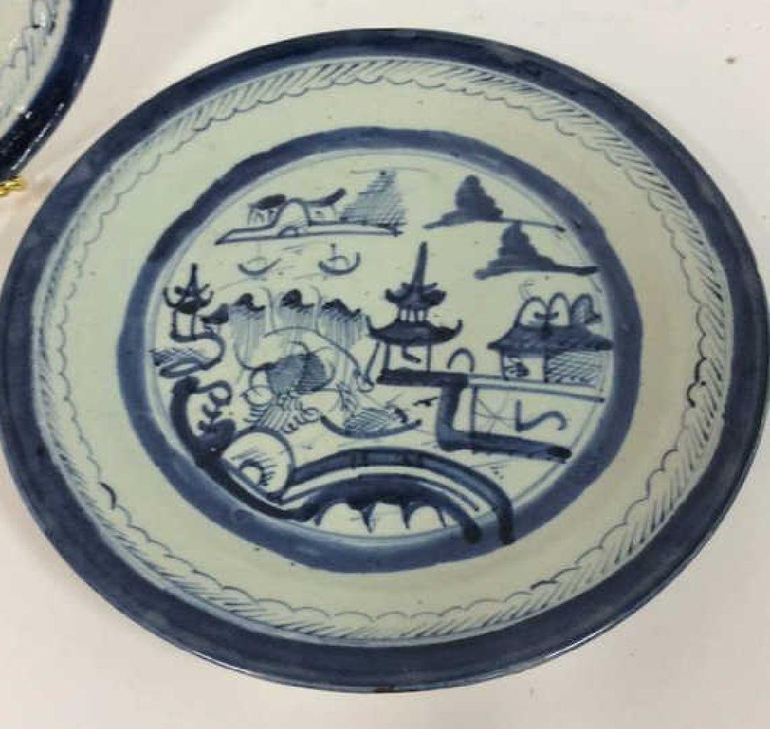 Pair Antique Chinese Export Canton Plates - 2