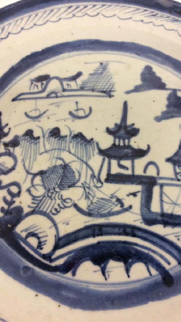 Pair Antique Chinese Export Canton Plates - 3