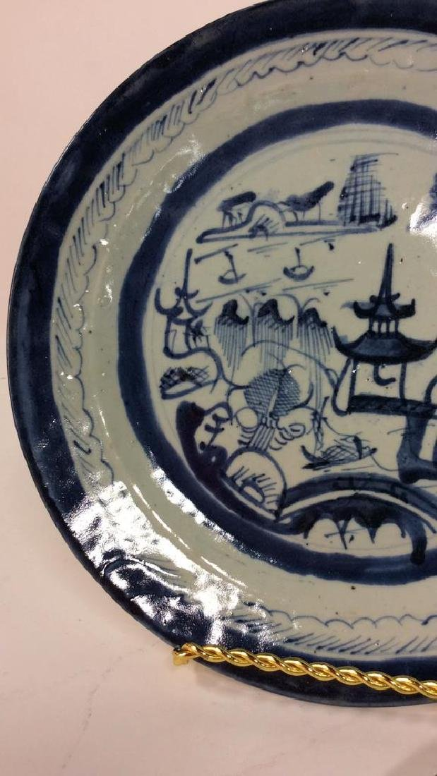 Pair Antique Chinese Export Canton Plates - 6