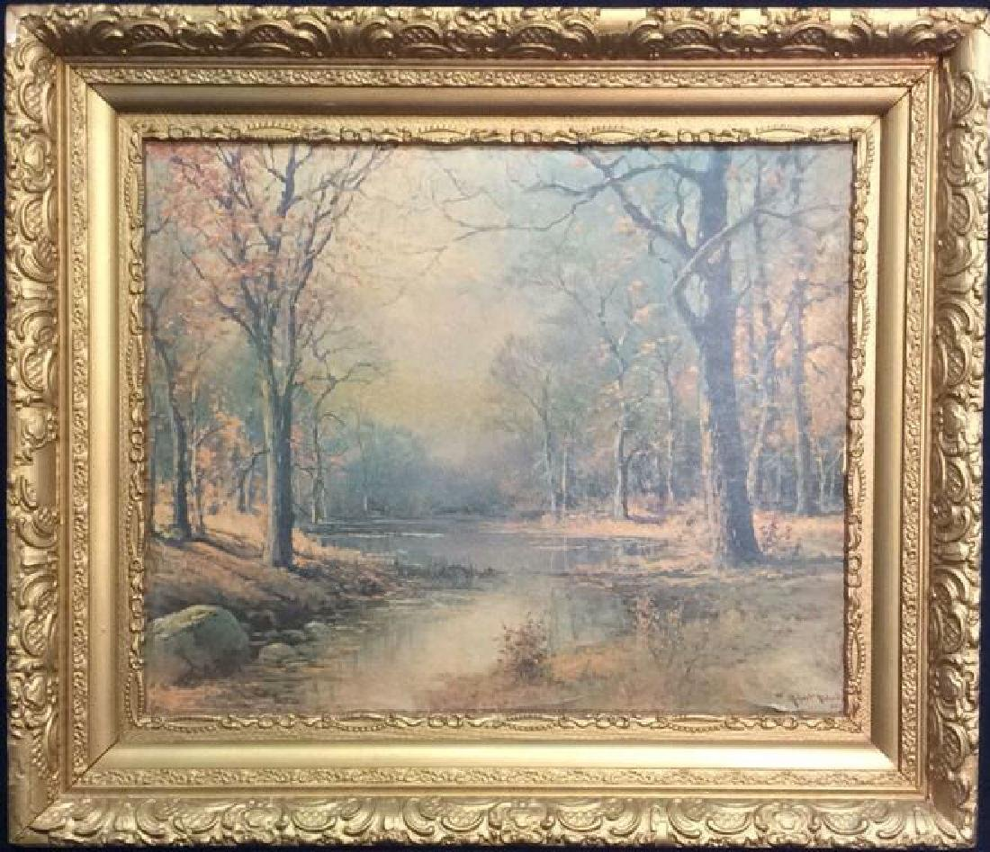 ROBERT WOOD Framed Textured Print On Board