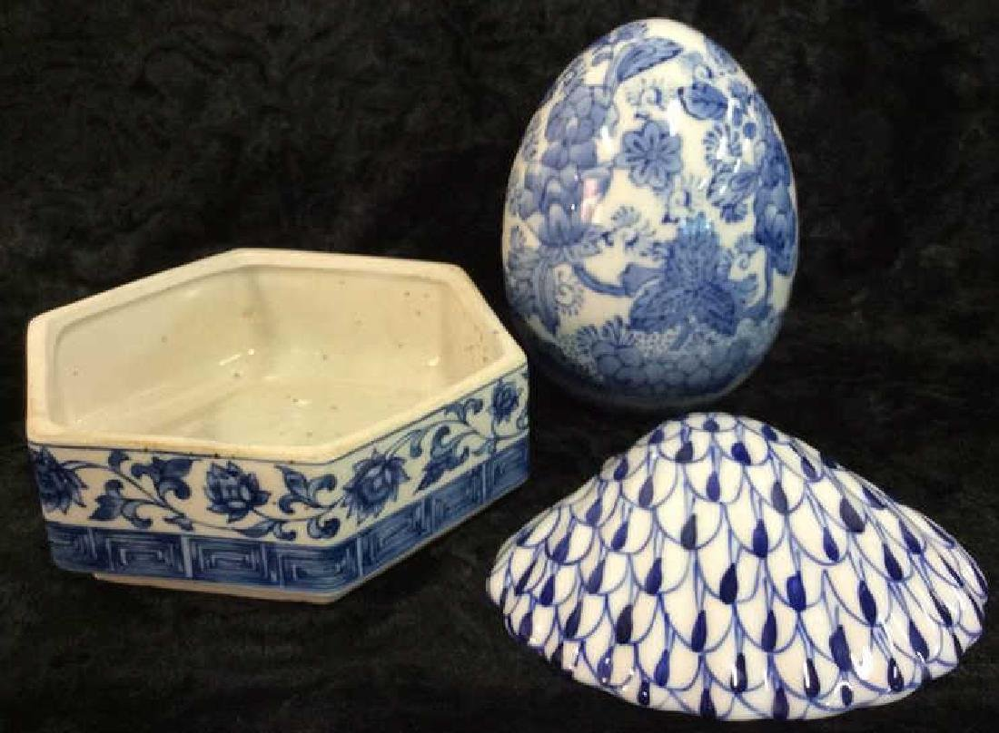 Lot 3 Stoneware Ceramic Porcelain Tabletop Acc