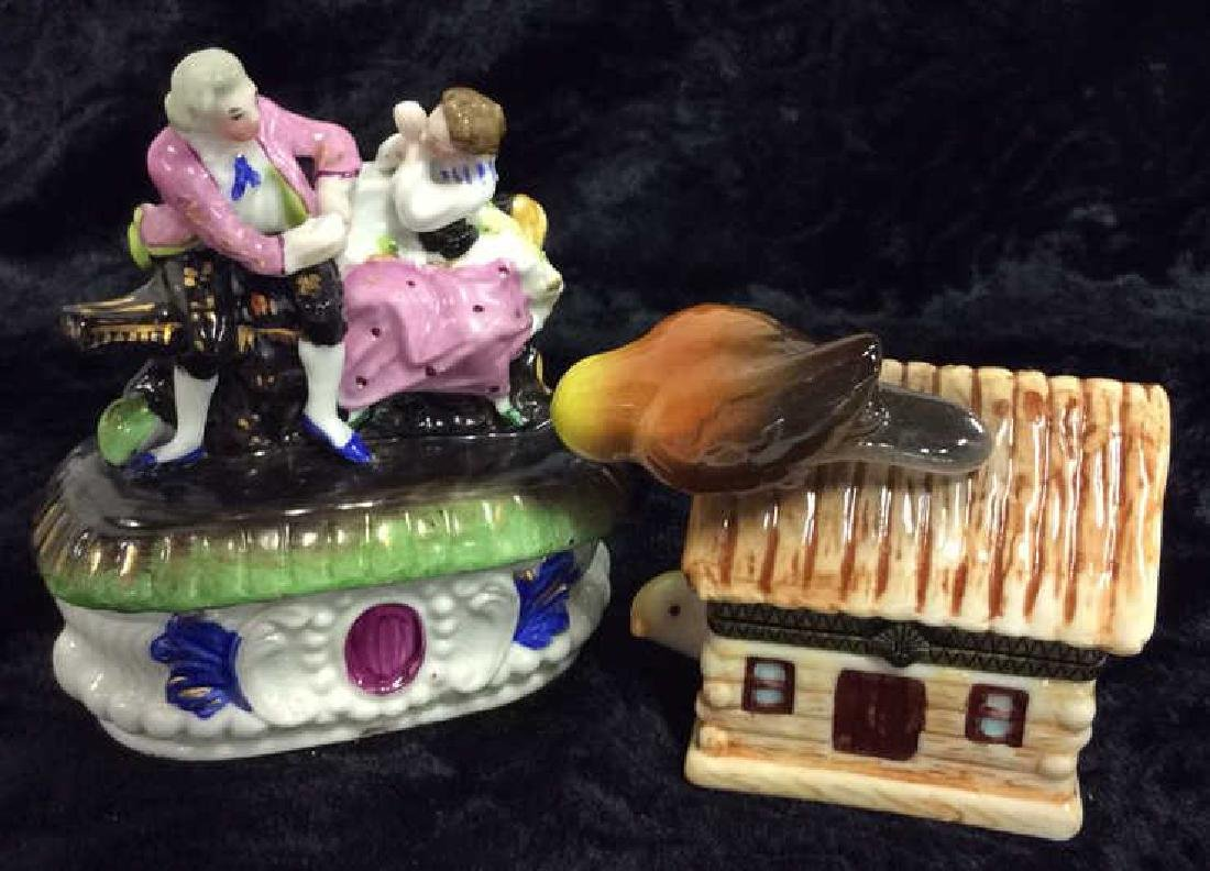 Lot 4 Assorted Porcelain Tabletop Accessories - 6