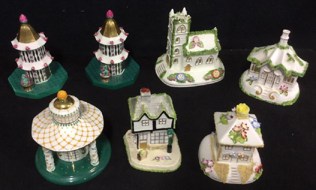 Set Of 7 Coalport Hand Painted China Collectibles