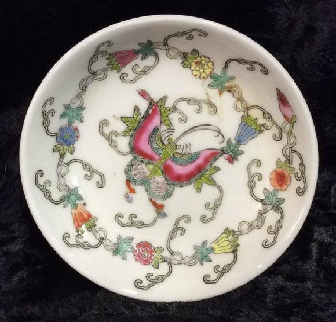 Set 3 Chinese Painted Porcelain Dishes - 4