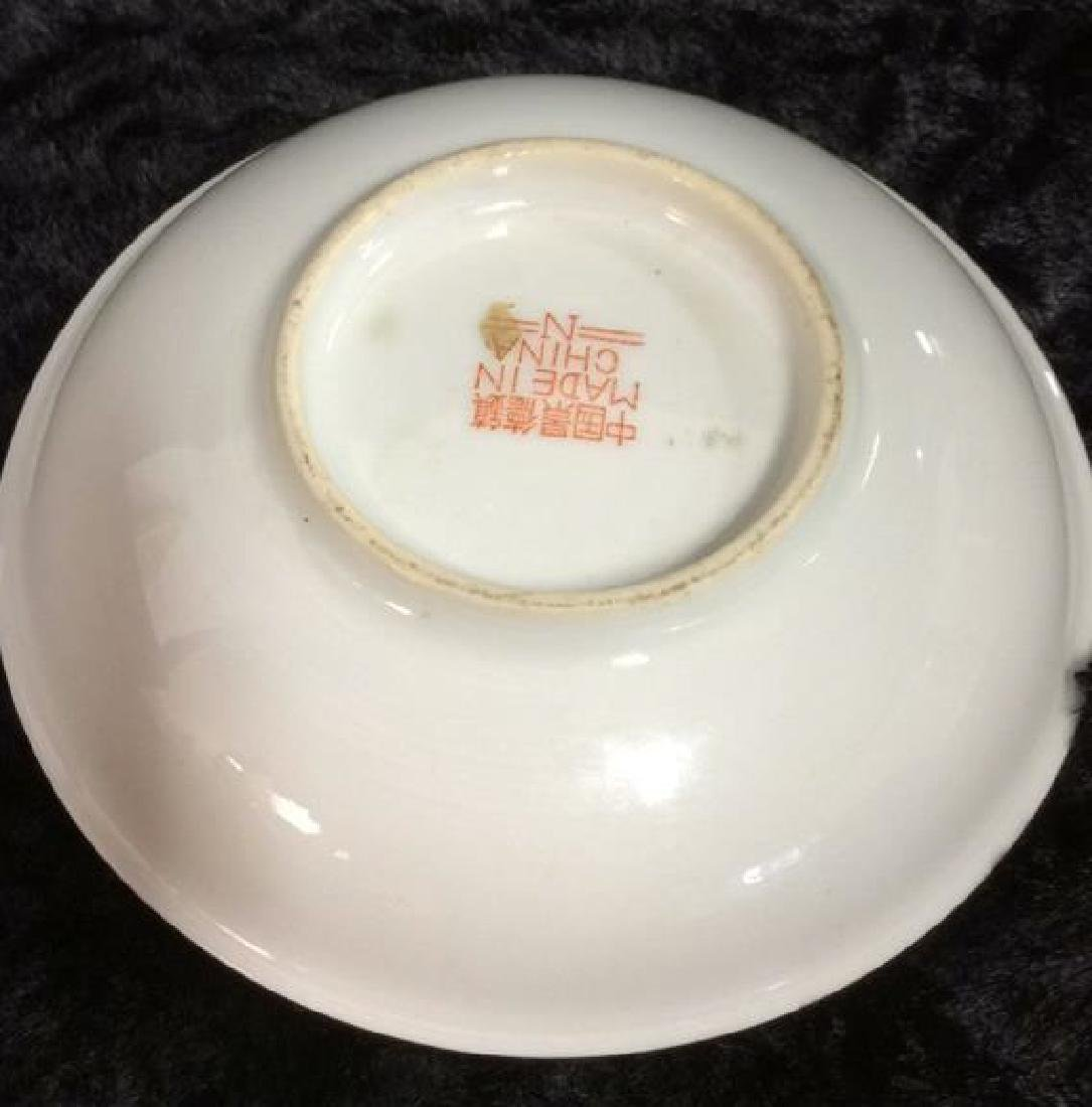 Set 3 Chinese Painted Porcelain Dishes - 5