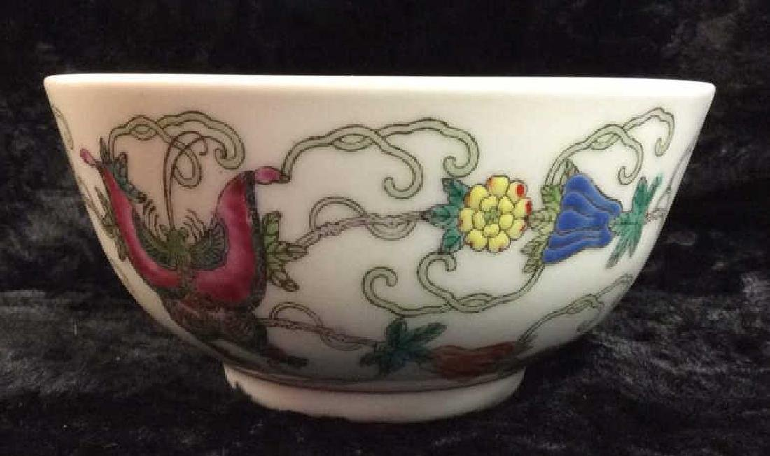 Set 3 Chinese Painted Porcelain Dishes - 6