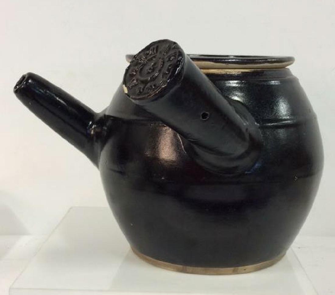 Long Handled Glazed Ceramic Teapot Israel - 2