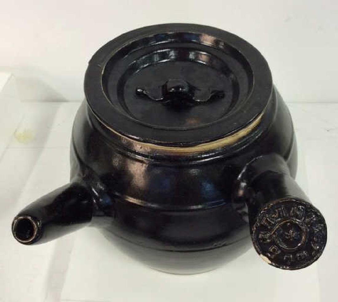 Long Handled Glazed Ceramic Teapot Israel - 3