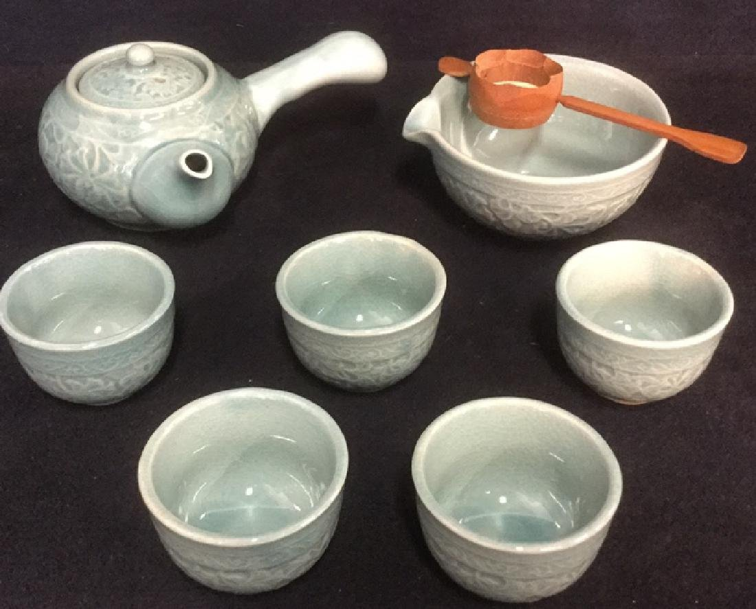 Lot 8 Japanese Tea Set In Original Box