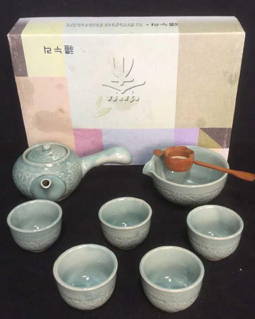 Lot 8 Japanese Tea Set In Original Box - 2