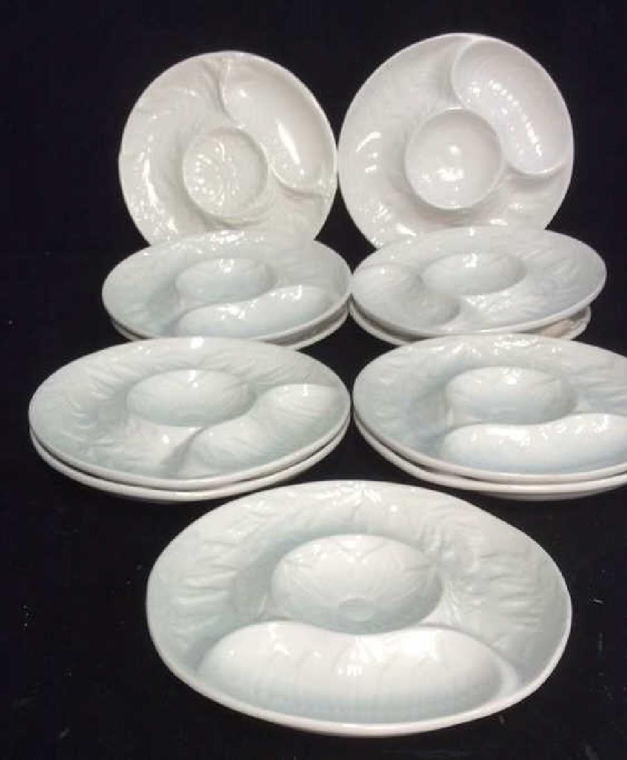 Set Made in USA glazed Ceramic Plates