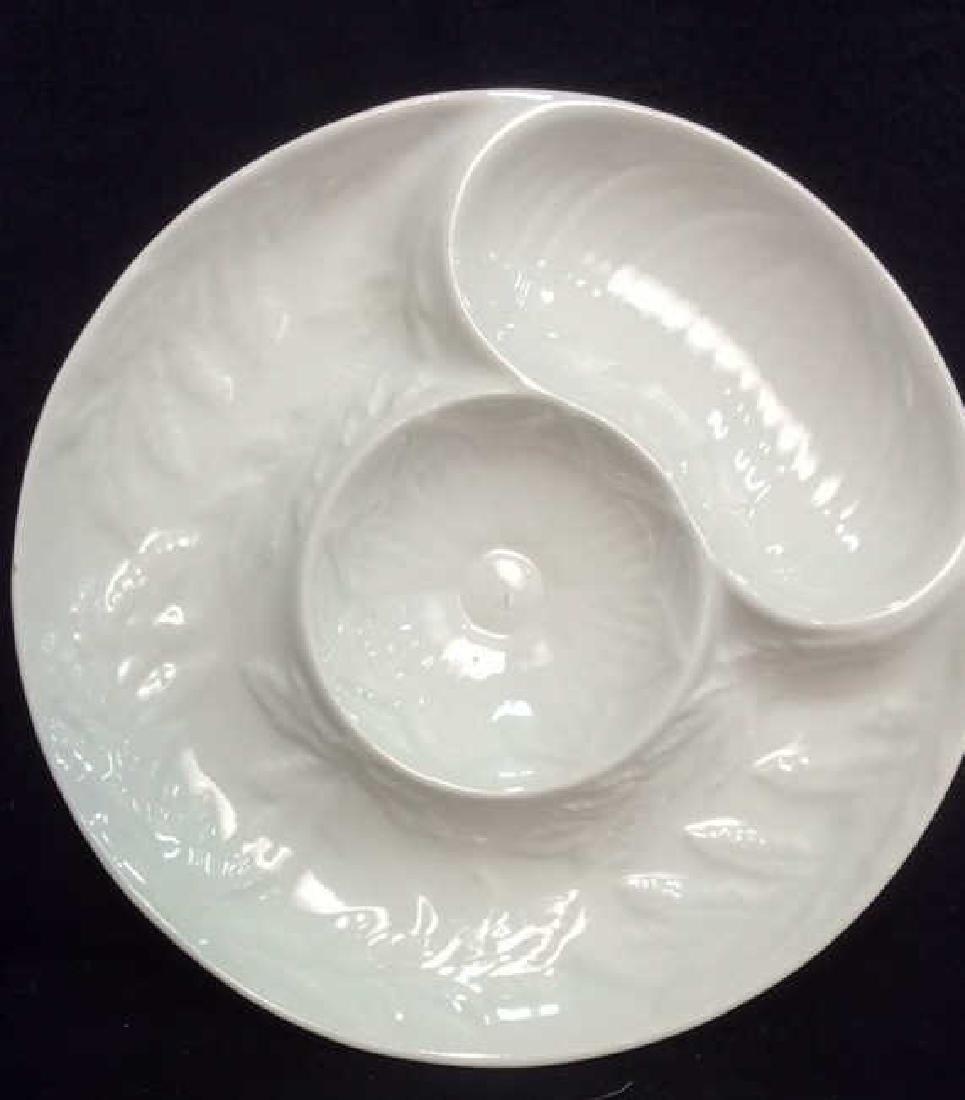 Set Made in USA glazed Ceramic Plates - 2