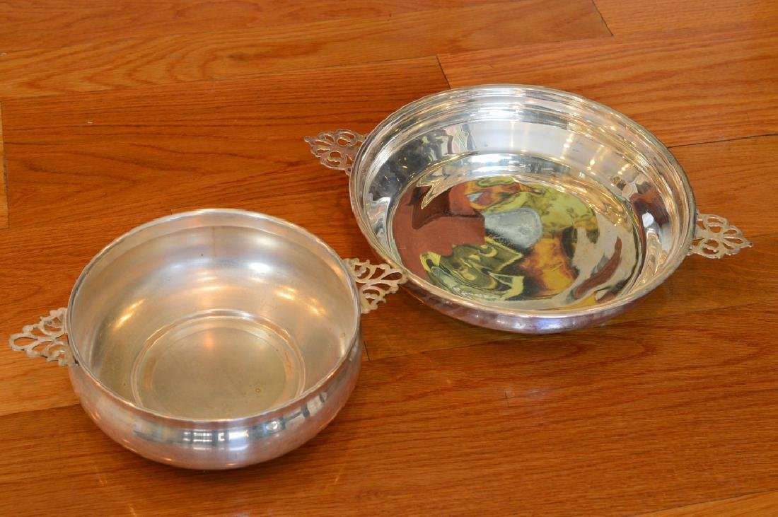 Pair  Electroplated Silver pl Serving Bowls - 2