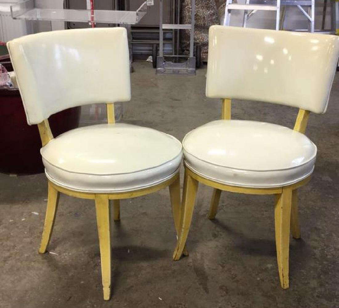Pair Mod Patent Leather Klismo Chairs