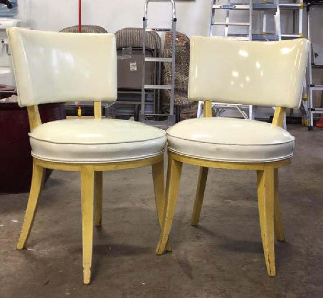 Pair Mod Patent Leather Klismo Chairs - 2