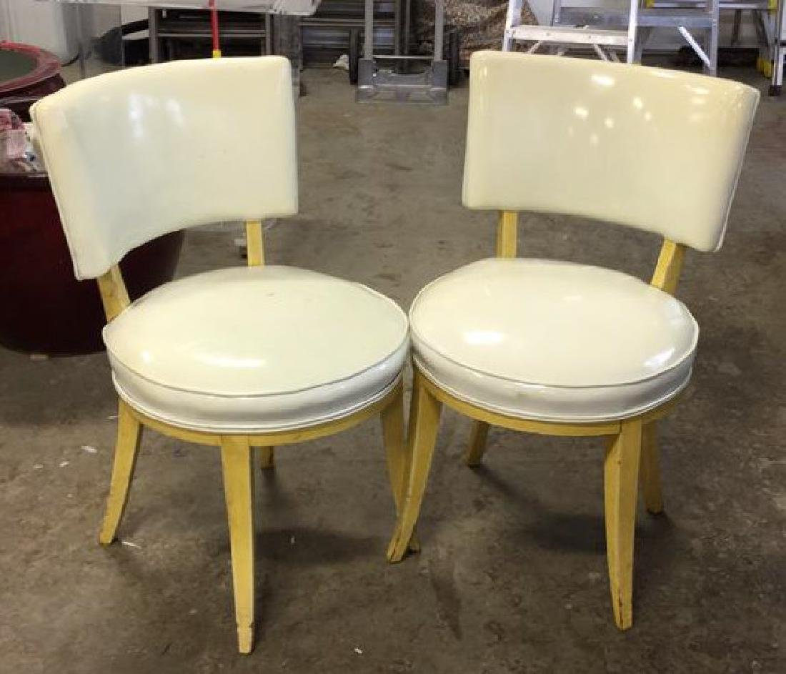 Pair Mod Patent Leather Klismo Chairs - 4