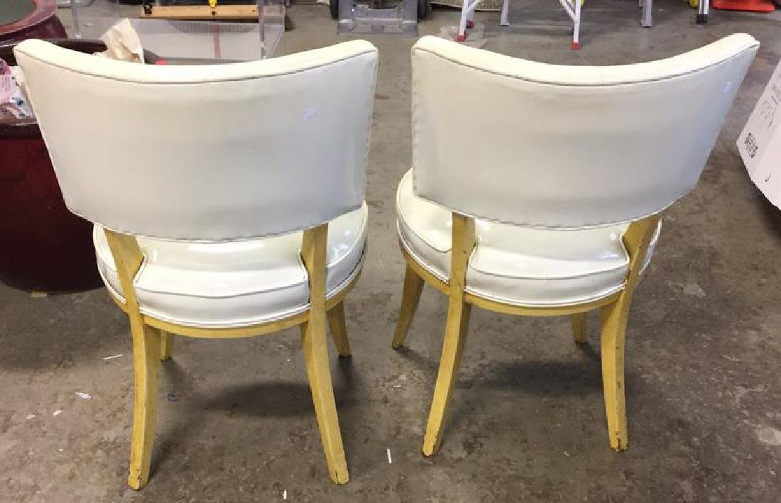 Pair Mod Patent Leather Klismo Chairs - 5
