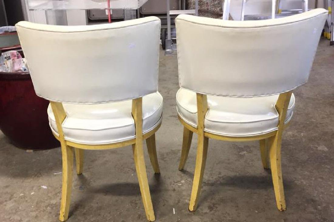 Pair Mod Patent Leather Klismo Chairs - 6
