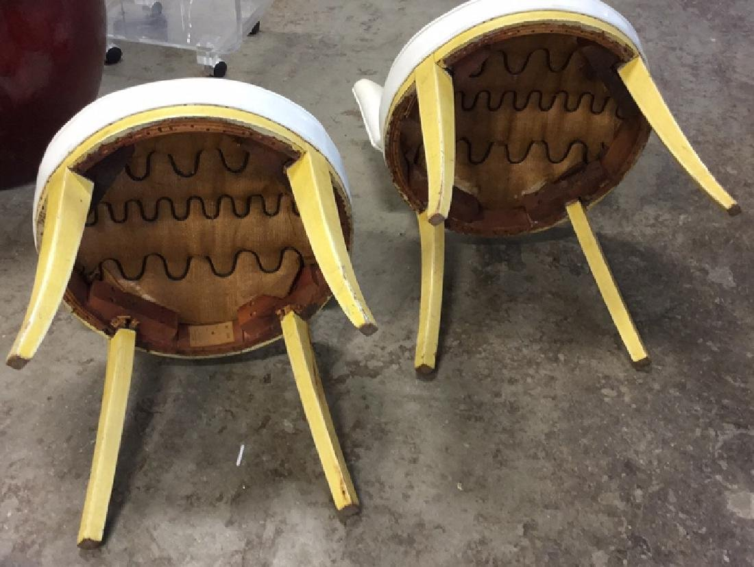 Pair Mod Patent Leather Klismo Chairs - 8
