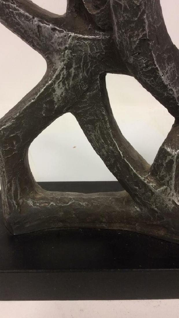Artist Signed Metal Sculpted Menorah - 3