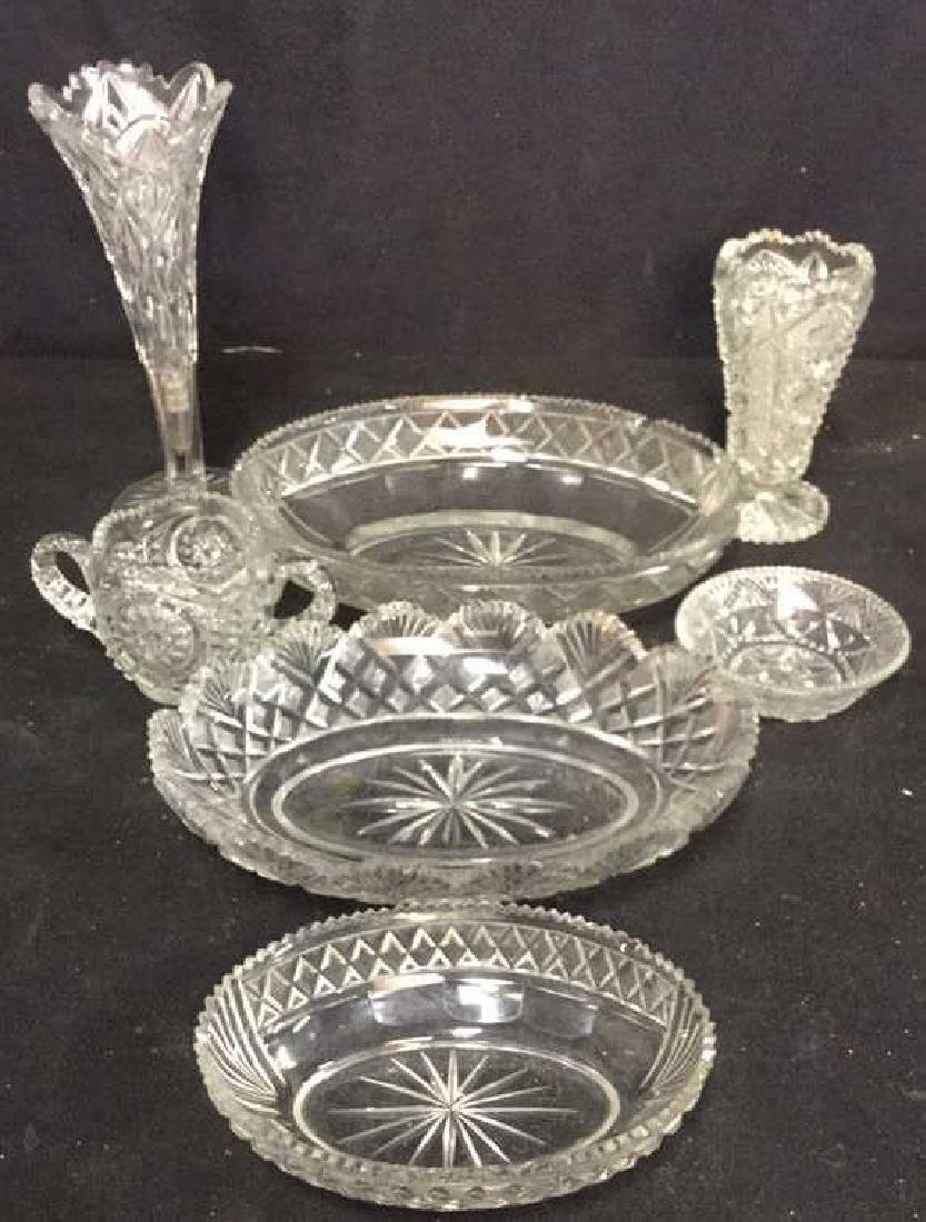 Lot 7 Miscellaneous Crystal Tabletop Accessories