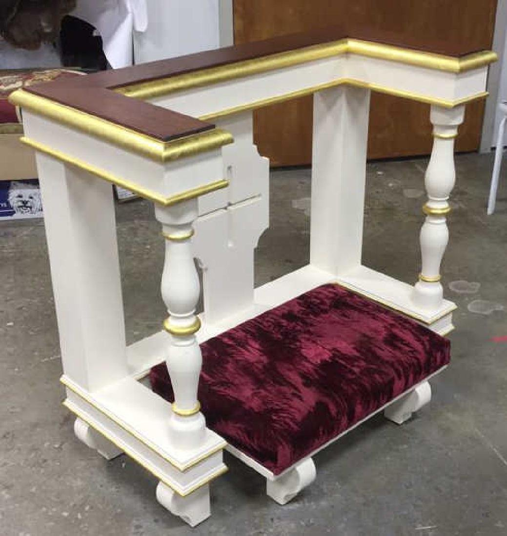 Custom Alter Prayer Kneeling Bench Table