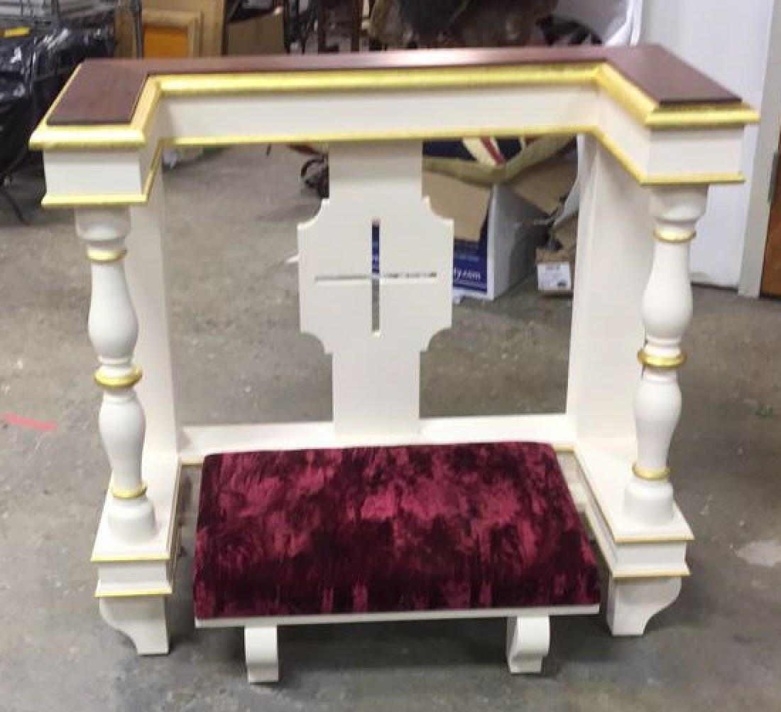 Custom Alter Prayer Kneeling Bench Table - 2
