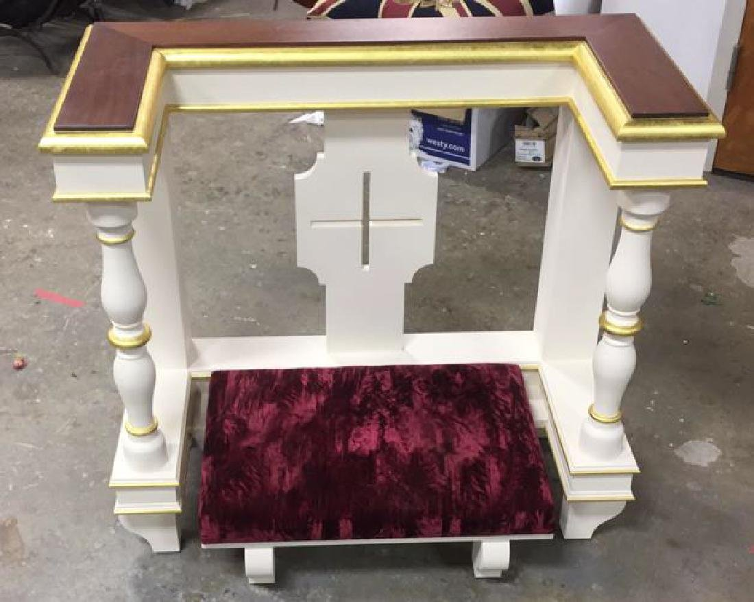 Custom Alter Prayer Kneeling Bench Table - 3