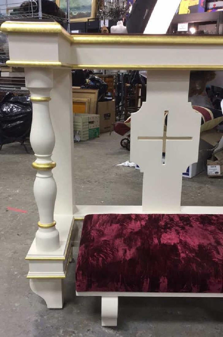 Custom Alter Prayer Kneeling Bench Table - 5