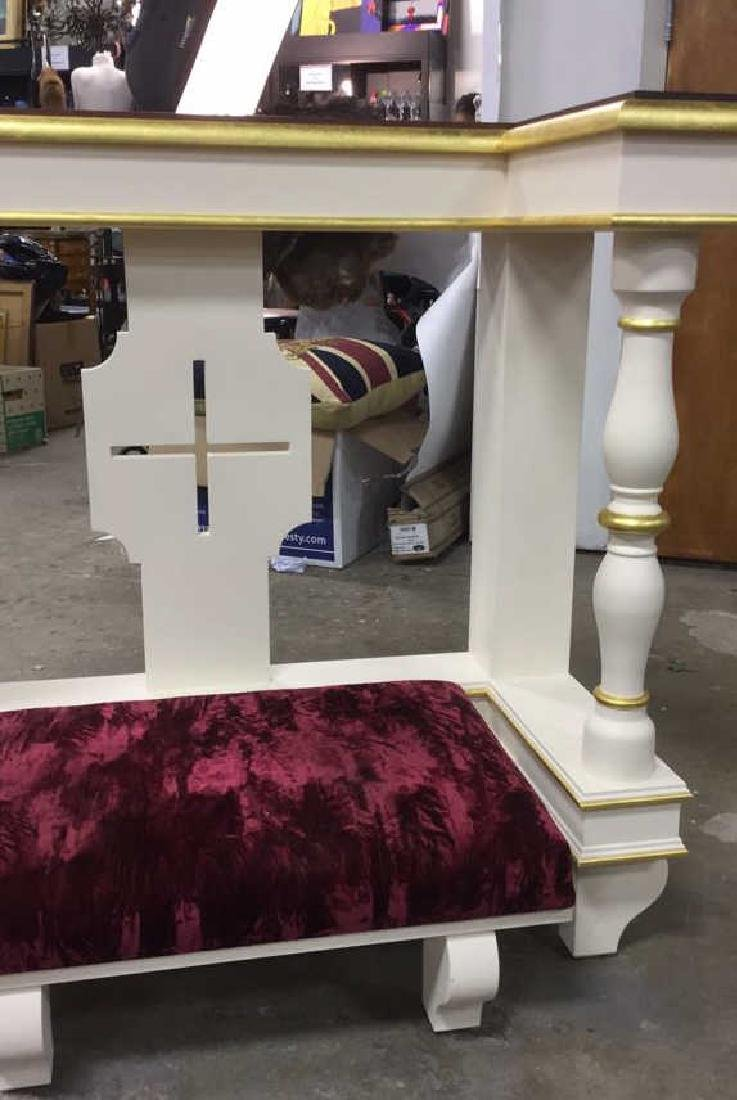 Custom Alter Prayer Kneeling Bench Table - 6