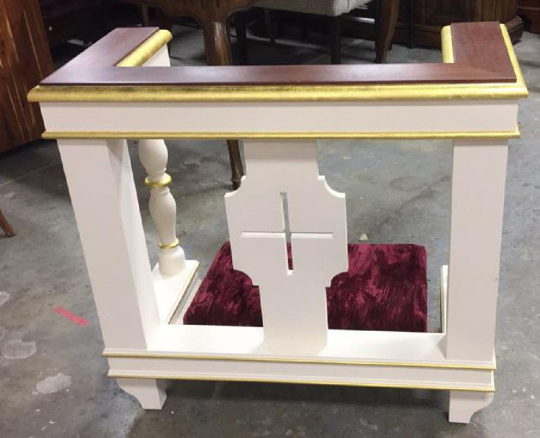 Custom Alter Prayer Kneeling Bench Table - 8