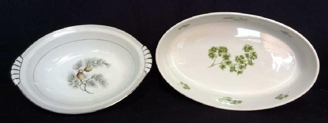 Lot 2 Porcelain Cookware Serving Dishes
