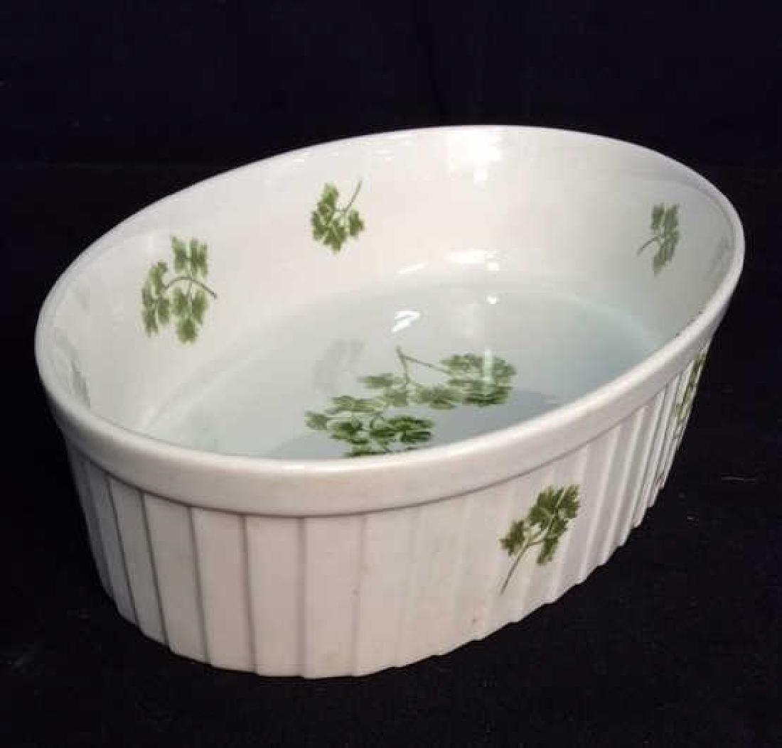 Lot 2 Porcelain Cookware Serving Dishes - 6