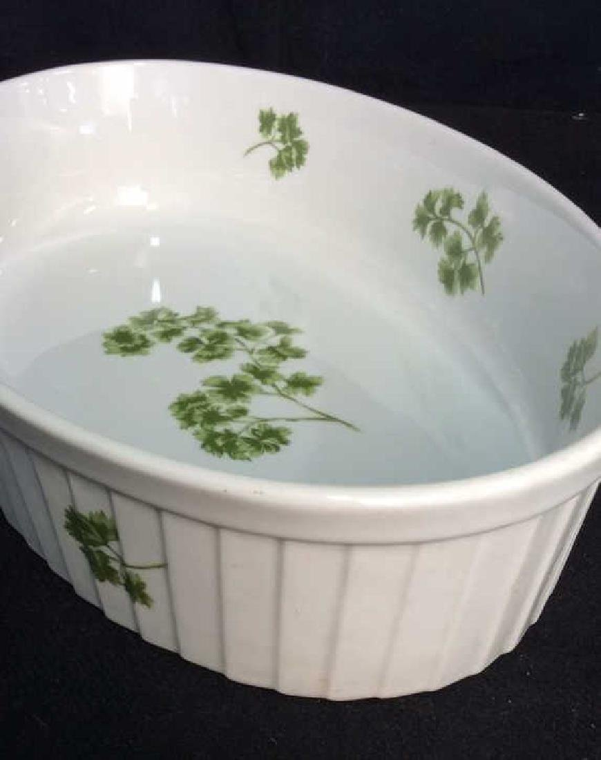 Lot 2 Porcelain Cookware Serving Dishes - 9