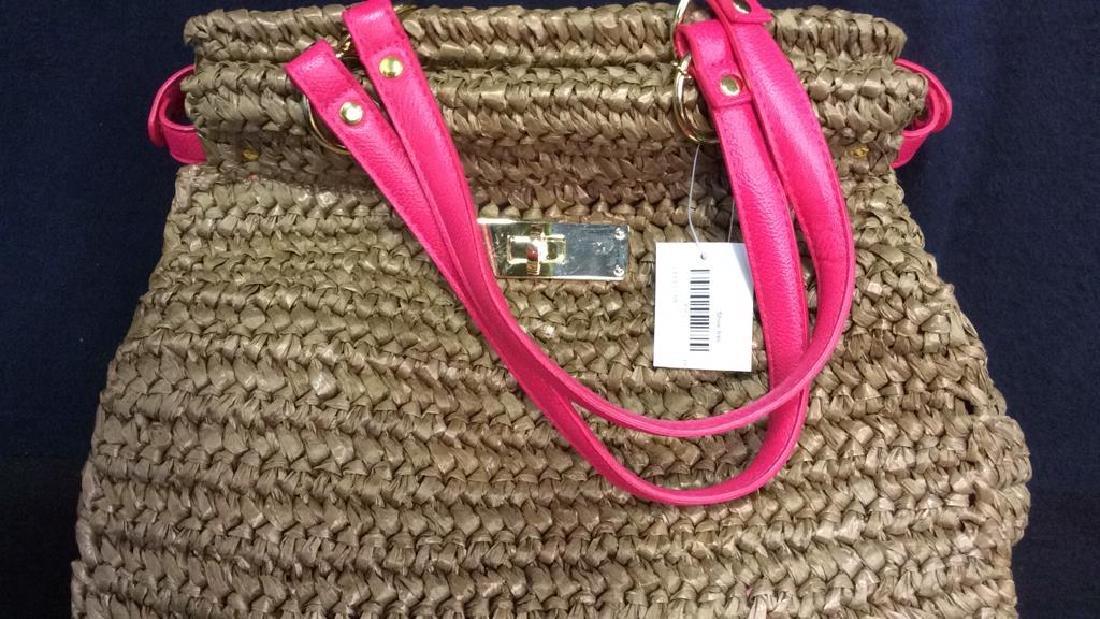 Laugoa Woven and Leather Hand Bag Purse - 2