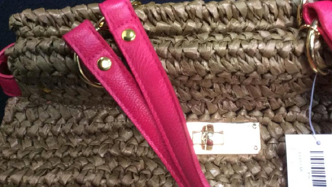 Laugoa Woven and Leather Hand Bag Purse - 3