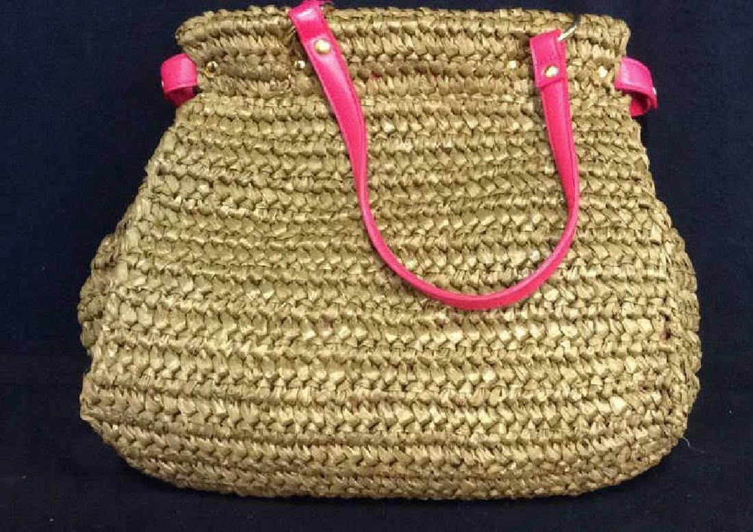 Laugoa Woven and Leather Hand Bag Purse - 4