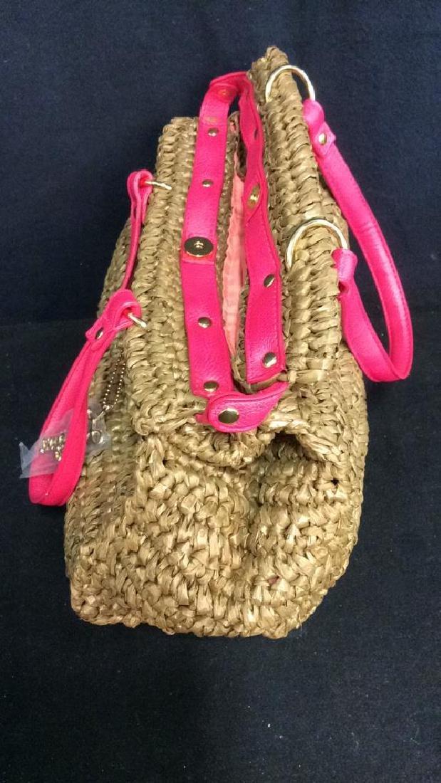 Laugoa Woven and Leather Hand Bag Purse - 5