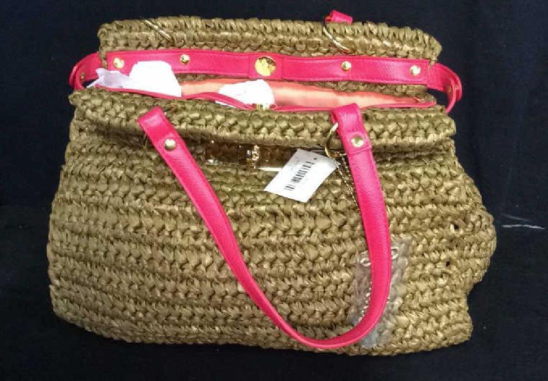 Laugoa Woven and Leather Hand Bag Purse - 8