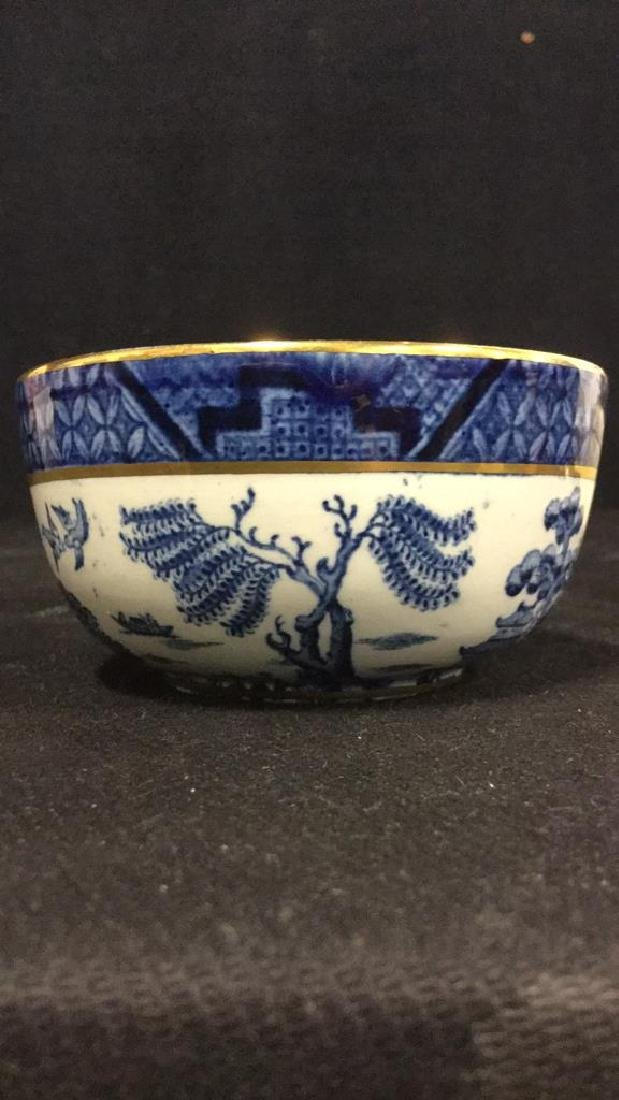 Lot 2 English Booths Real Old Willow Bowl & Dish - 4