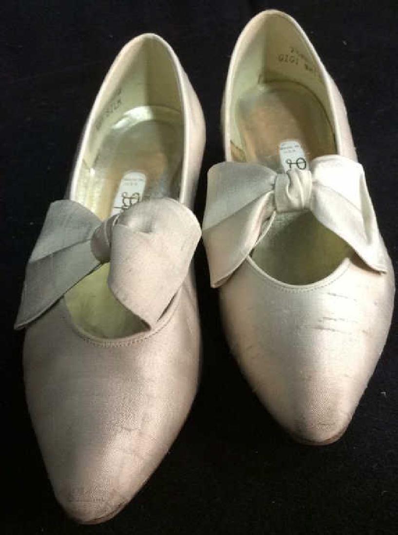 Vintage DYEABLES Silk Shoes w Bows & Original Box - 2