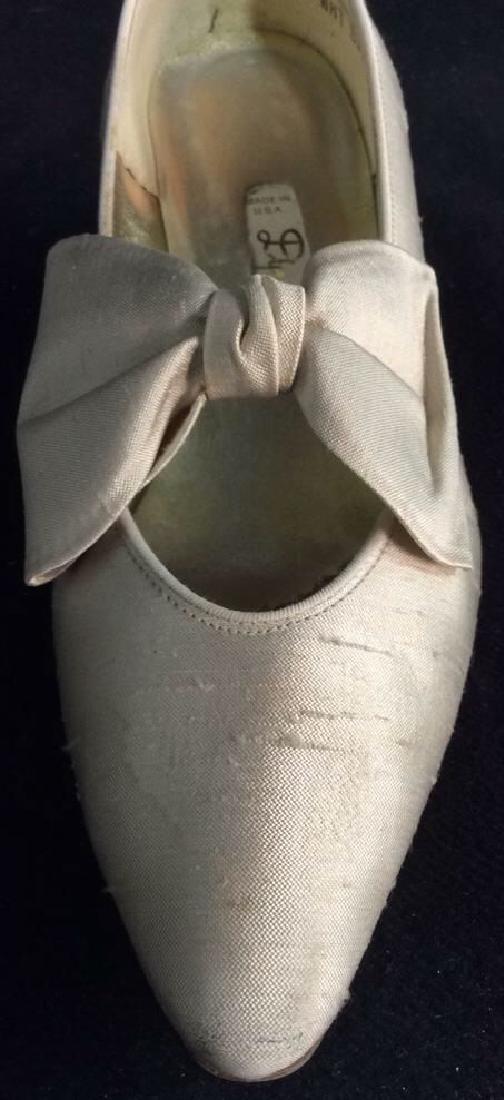 Vintage DYEABLES Silk Shoes w Bows & Original Box - 3